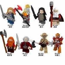 For lgoing Lord of the Rings Bilbo Baggins Figures Dwarf Uruk Hais Orc Azog Yazneg Bombur Model Building Blocks Bricks Toys 162
