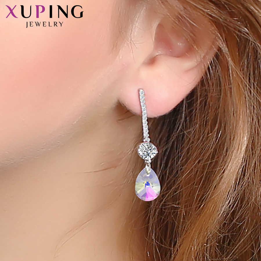 Xuping exquise boucles d'oreilles cristaux de Swarovski élégant bijoux pour femmes filles fête saint valentin cadeaux S149-20515