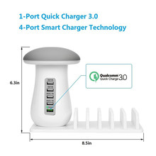цены на QC3.0 5USB Output Desktop Charger adapter+Light Desk Lamp with Phone Holder,For Samsung HTC Sony Nokia LG huawei xiaomi  в интернет-магазинах