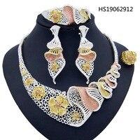 Yulaili Fashion Jewelry Sets Vintage Turkish Women African Beads Necklace Dubai Nigeria Wedding Jewelry Silver Color Crystal Set