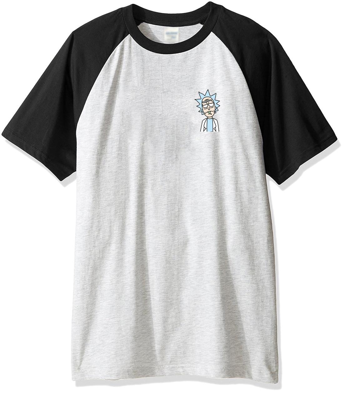 Fashion Men's T-shirts 2019 Spring Summer Raglan Tshirts Men Brand Cotton Casual Tshirt RICK AND MORTY Kpop Streetwear Top Shirt