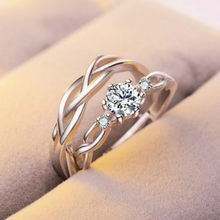 New Fashion Around Design Zircon Engagement Rings for Women Rose Gold Color Wedding Rings Female Austrian Crystals Jewelry Top(China)