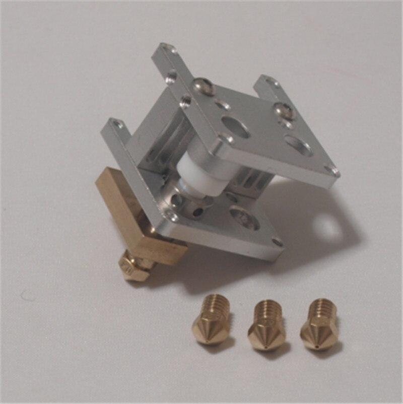 ФОТО 3mm Ultimaker 2 Extended + Plus 3D printer upgrade kit Ultimaker 2+ UM2+  Olsson block nozzle hotend kit/set