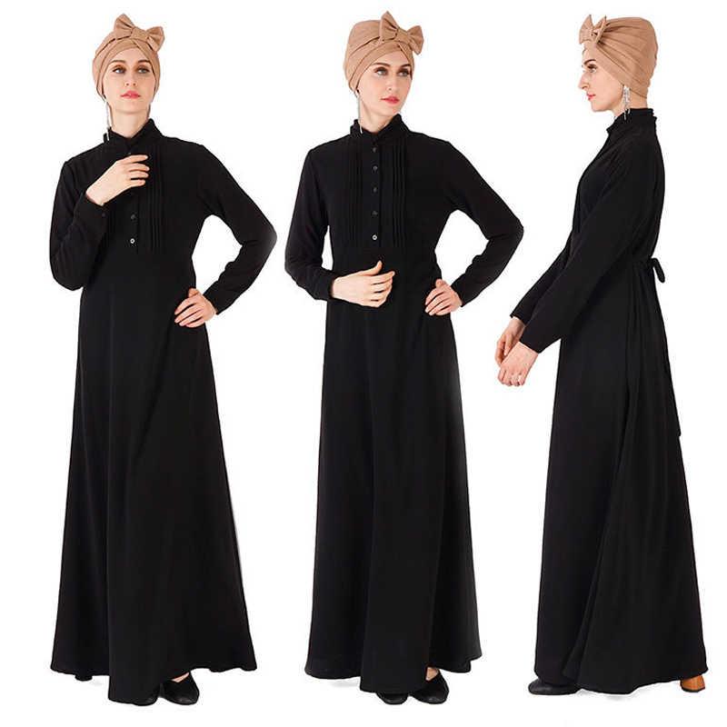 Мусульманский кафтан абайя Дубай Рамадан платье хиджаб Турции Абаи для Для женщин джилбаба Восточный халат из марокена Elbise Катар Оман Исламская Костюмы