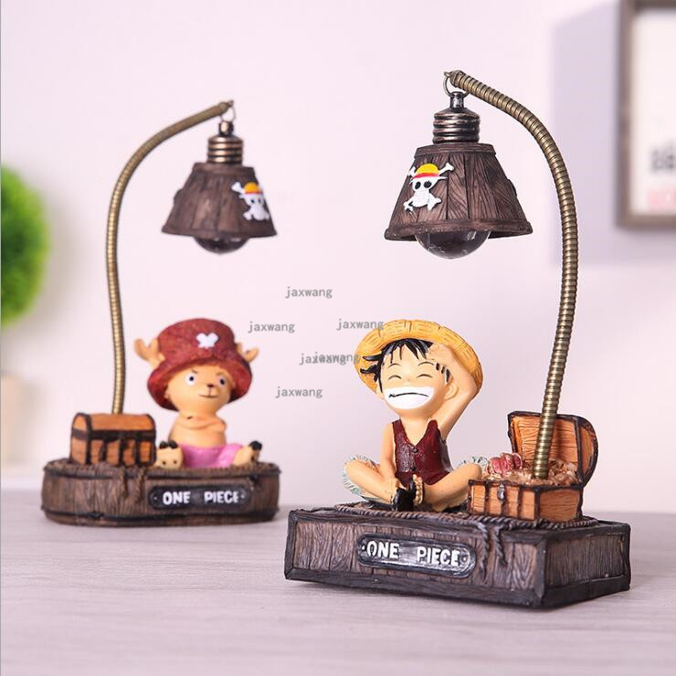 One Piece Monkey D Lights & Lighting Luffy&tony Chopper Cute Table Lamps Led Night Lights Green Resin Childrens Room Bedroom Bedside Decor Gifts