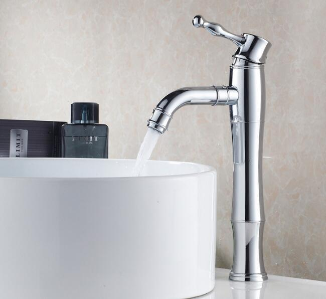 Bathroom accessories hot and cold water washbasin faucets single handle chrome brass sink faucet bath wash mixer tap top quality
