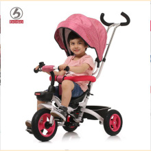 BOSO kids tricycle, one button fold system child tricycle, seat can reverse baby bike, adjust push handle baby walker(China)