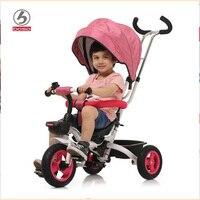 BOSO kids driewieler, een knop vouw systeem kind driewieler, seat kan reverse baby fiets, passen push handvat loopstoeltje