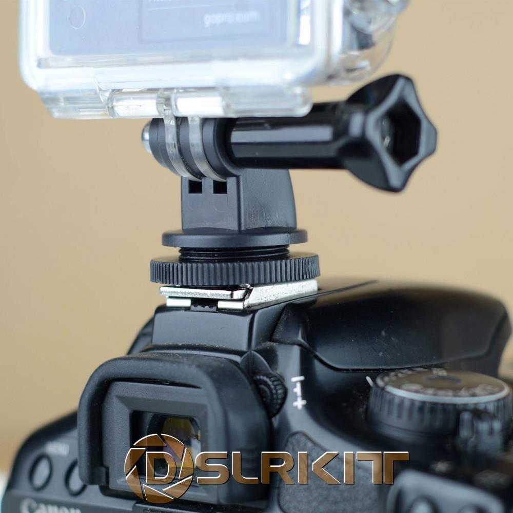 DSLR Hot Shoe Mount Adapter For GoPro HERO 4 3+ 3 2 1