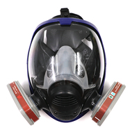 Gas Mask Protective Full Facepiece Respirator Filter Silicon Spray Masks Paintings Anti Chemical Respirators for Painting