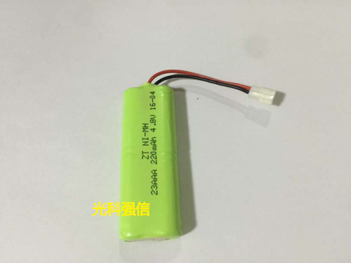 4.8v li po li-ion batteries NI-MH battery 4 8 v lipo li ion rechargeable lithium-ion for 4.8V 2/3AAA 220MAh toys image