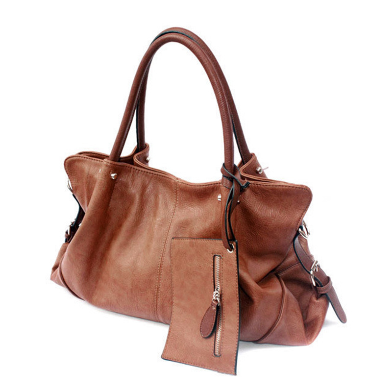 Big Women PU Leather Handbags Large Capacity Messenger Shoulder Bags For Woman Zipper Ladies Tote Handbag Purse Set