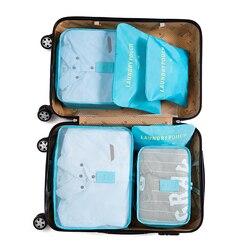 IUX Nylon Verpackung Cube Reisetasche System Langlebig 6 Stücke Ein Satz Große Kapazität Von Taschen Unisex Kleidung Sortierung Organisieren