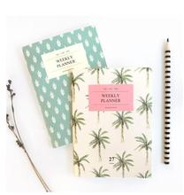 A6 Mint Tree Mini Notebook and Journals 54P Weekly Planner Organizer Agenda 2016 2017  papelaria School Material Escolar