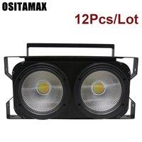 10pcs/lot NEW 2eyes 2x100w LED Warm White 200W Led Audience Blinder DMX LED COB 100W LED PAR