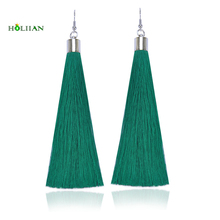 Bohemia Long Fiber Tassel Drop Earrings For Women Fashion Jewelry Pendantes Femmes Ethniques Boho green fringe Mujer Bijoux 2017