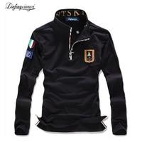 Linfengxiangzi date hommes t shirt 2017 printemps marque Italie air force design haut à manches longues t-shirts M-3XL ACL131