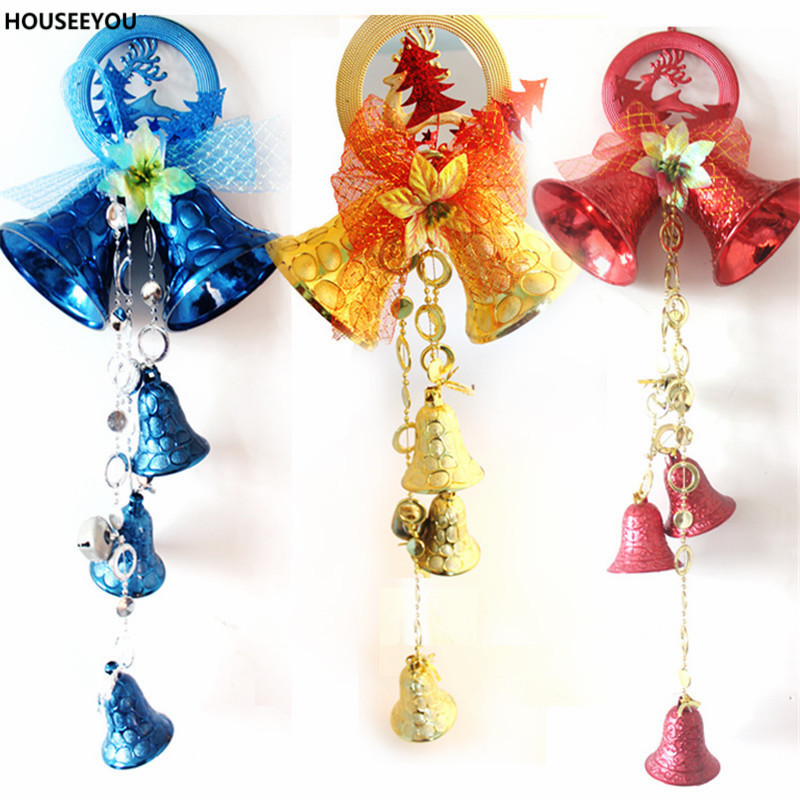 A String Christmas Tree Decorations Jingle Bells Red Blue ...