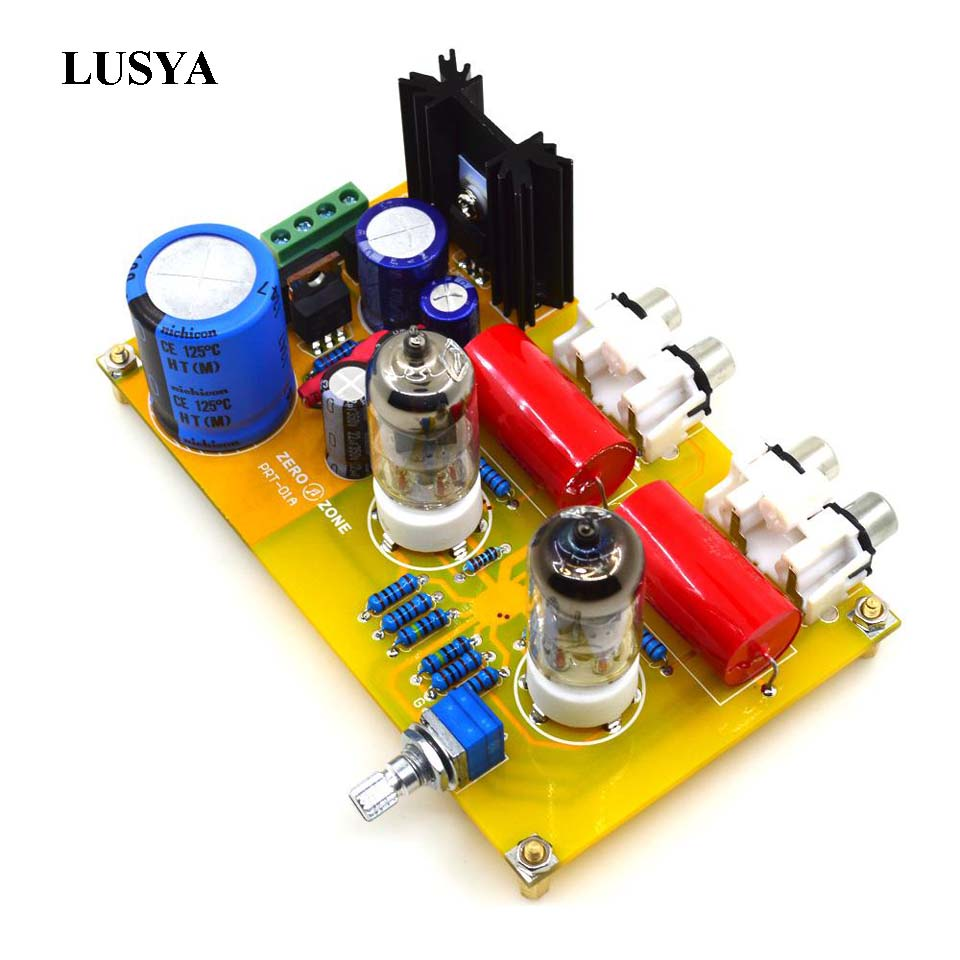 Lusya Class A PRT-01A-6J1 Tube Preamplifier Audio Board DIY Kit preamp  Stereo Vacuum Tubes installation parts T0307