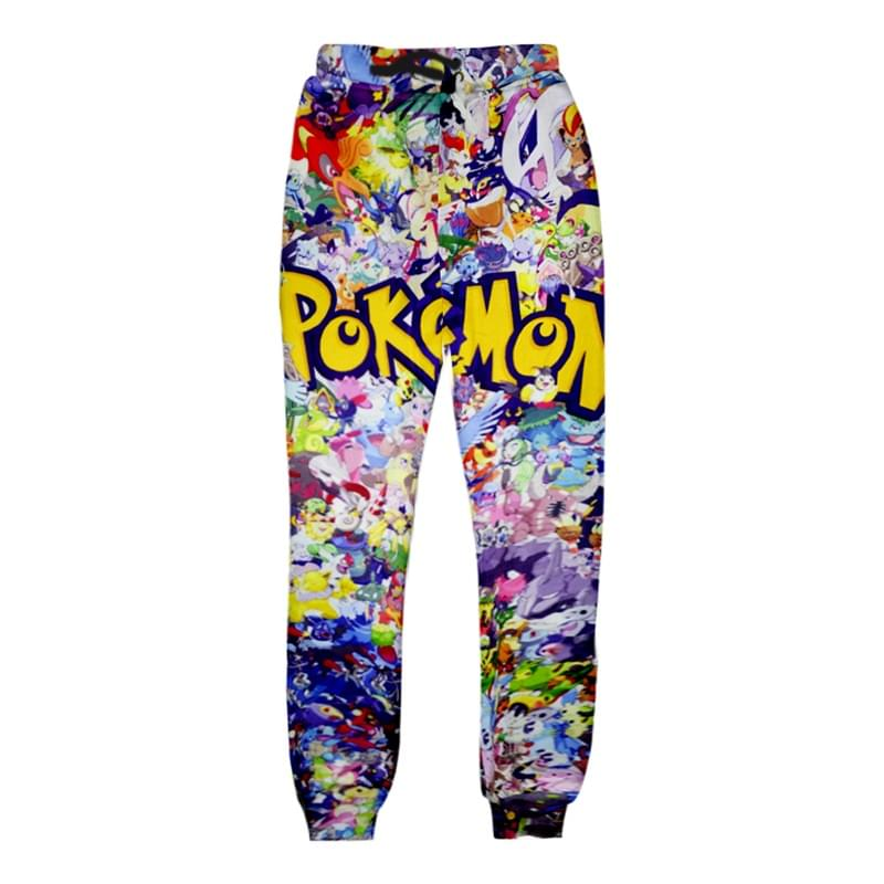 Cartoon Pokemon Joggers Pants Men Women 3D Print Trousers Autumn Winter Trouser Casual Women Men Pants Unisex Sweatpants