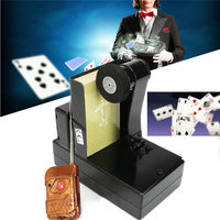 New Party Games Remote Control Card Fountain Magic Tricks Metal Stage Magic Props Remote Control Spray Card Device Board Games