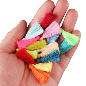 100PC 3CM Mini Cotton Thread Fabric Tassel DIY Pendant Jewelry Bracelet Key Making Fringe Trim Craft Tassels Sewing Accessories(China)