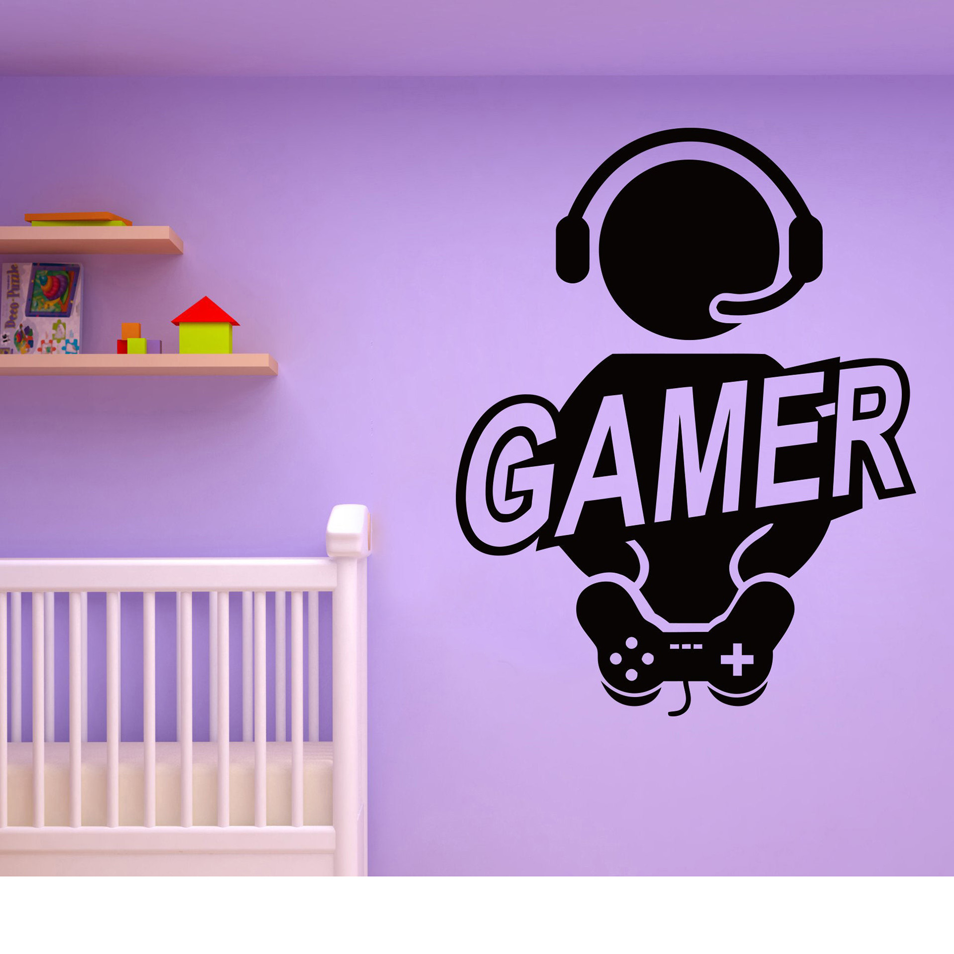 X-box Gamer wall sticker Vinyl Wall Art Decals PS4 video game wall decals Game Studio Mural stickers For Teens room Bedroom G447