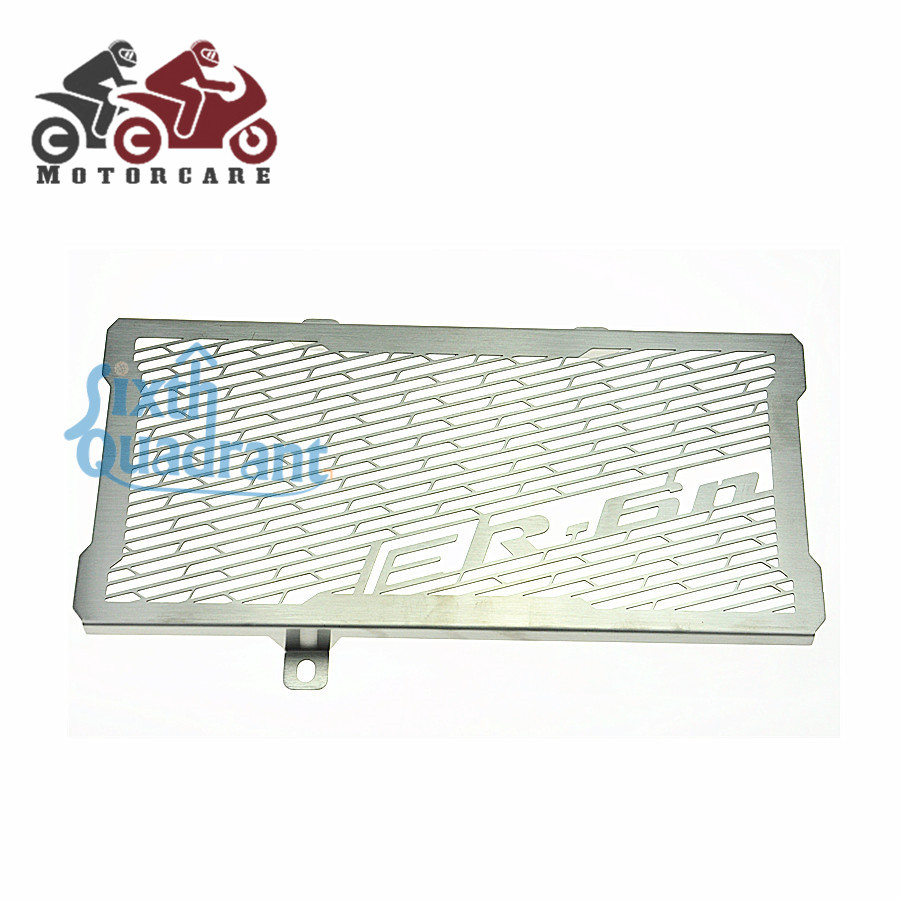 NEW Fee Shipping  For Kawasaki  ER-6N  NINJA650R ER6F ER6N  Motorcycle Radiator Grille Guard Cover Protector Protection motorcycle radiator protective cover grill guard grille protector for kawasaki z1000sx ninja 1000 2011 2012 2013 2014 2015 2016