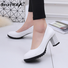 Fashion Pattern Women Pumps New Spring Ladies Platform Shoes
