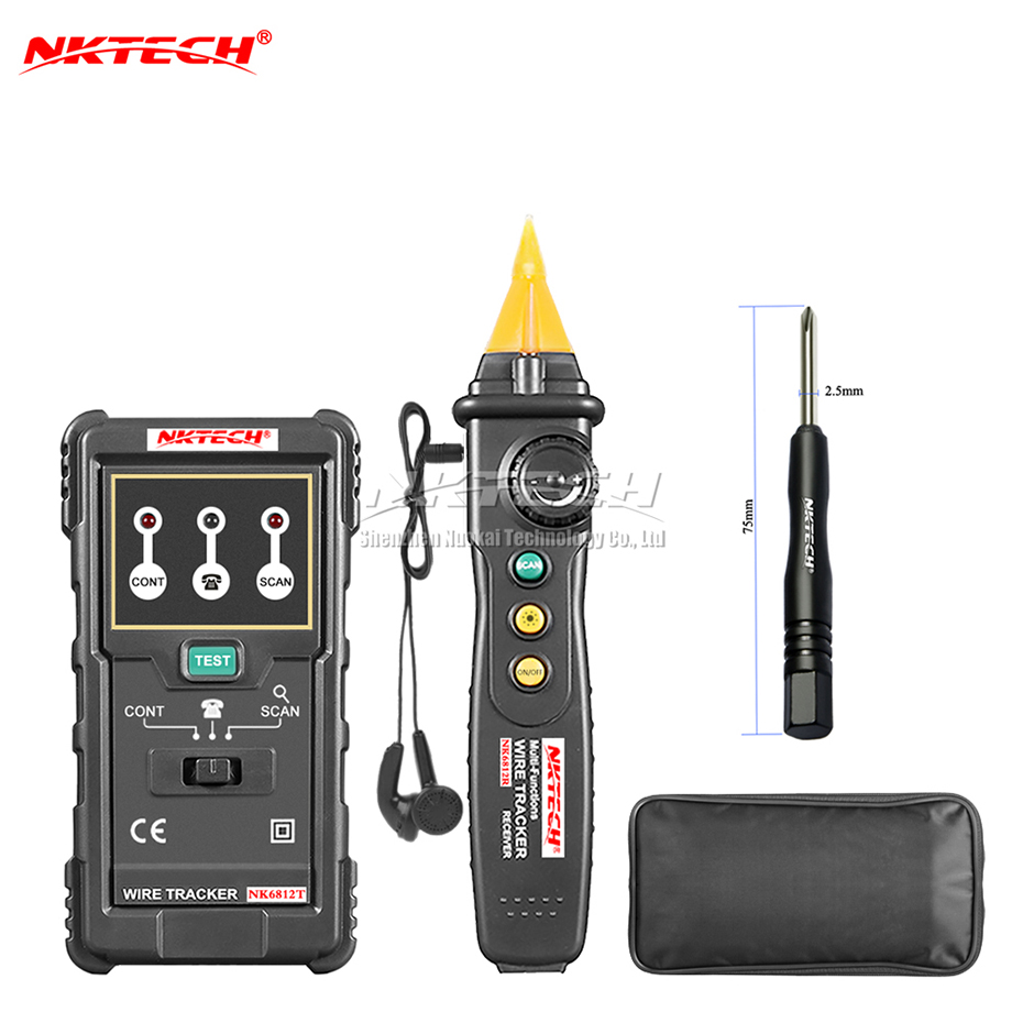 Nktech Nk6812 Cable Wire Tracker Tester Network Lan Internet How Do Circuit Breaker Finders And Testers Work Finder Telephone Phone Rj45 Rj11 Line Maintenance Detector In From