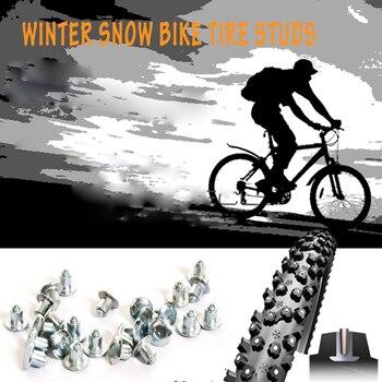 50 pçs picos de pneus para bicicleta motorbik studs para pneu de neve fatbike plana parafusos carboneto derrubado clous plates de pneus neige
