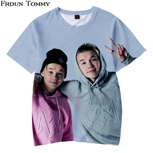 2019 Hot 3D Print Kids T-shirt Marcus and martinus Soft Round Collar Children T-shirt Kpop Casual Love Fashion New Top Clothes цена