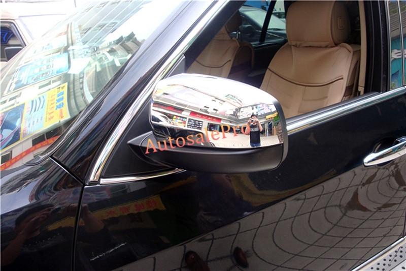 Pour BMW X5 E70 2008 2009 2010 2011 2012 2013 ABS Chrome Side Car Rétroviseur capots de bordure 2 pièces