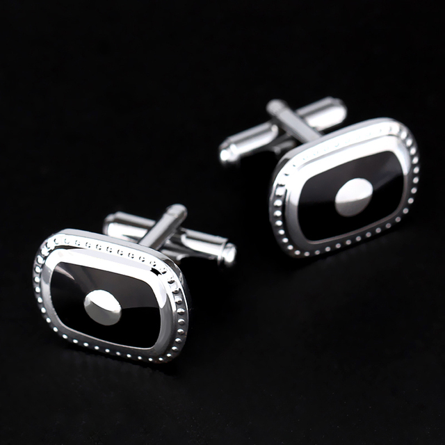 Cufflinks Stainless Steel Geometric Tie Clip Male French Shirt Cuff Botton Business Links