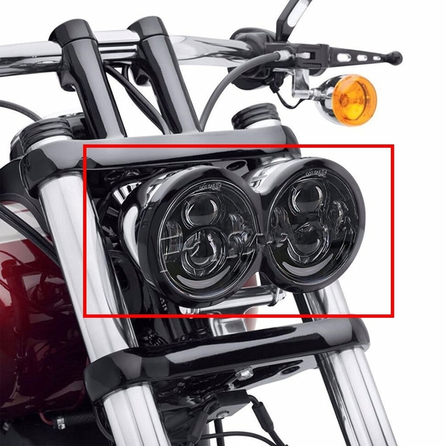 motorrad scheinwerfer fett f r bob led treiber lampe 5. Black Bedroom Furniture Sets. Home Design Ideas