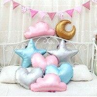 INS Hot Moon Cloud Shape Pillow Sofa Home Decoration Heart Throw Pillow Star Cushions Soft Stuffed