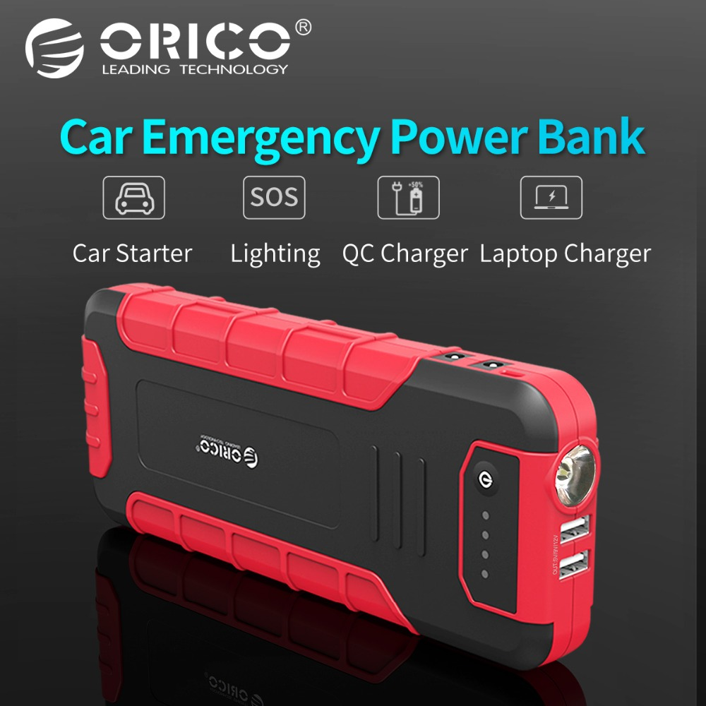 ORICO CS3 18000 mah Power Bank Multi-funktion Externe Batterie Tragbare QC3.0 Batterie Fahrzeug Motor Booster Notfall Power Bank