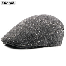 XdanqinX 2019 New Style Adult Men Autumn Winter Warm Hats  Plus Velvet Thicker Berets Dads Fashion Male Forward Hat