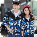 Venta directa de Fábrica de Aliexpress nueva primavera otoño 2016 ropa Parejas Jóvenes mujeres de los hombres de Camuflaje chaqueta de china barato al por mayor