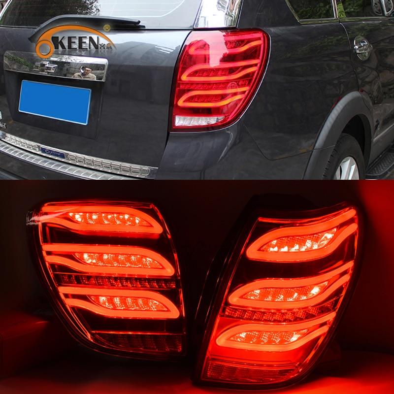 OKEEN 2 шт. автомобиля Стайлинг задние фонари в сборе для Chevrolet Captiva 2006 светодио дный 2016 светодиодный задний свет DRL + тормоз + Парк + указатель пов...
