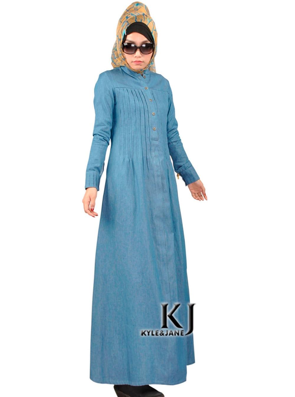 traditional indian clothing kaftan long sleeve Jean muslim dresses ...