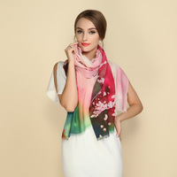 Inkjet Scarves Shawls Autumn And Winter Long Paragraph 80 Printed Short Wool Scarves Female Winter 72cm