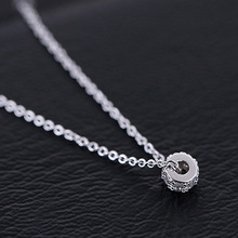 925 Sterling Silver Rotation Luck Beads Necklaces & Pendants For Women Fashion Lady Festival Gift Sterling-silver-jewelry