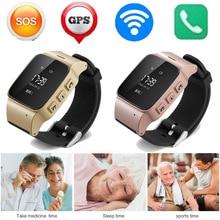 2016 neue hohe qualität d99 ältere smart watch anti-verlorene mini wasserdichte wifi gps tracking smartwatch für alte menschen d99 uhr