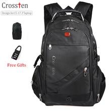 """Купить с кэшбэком Swiss Military Army Travel Bags Laptop Backpack 15.6"""" 17""""  Multifunctional Schoolbag for Macbook Waterproof  fabric"""
