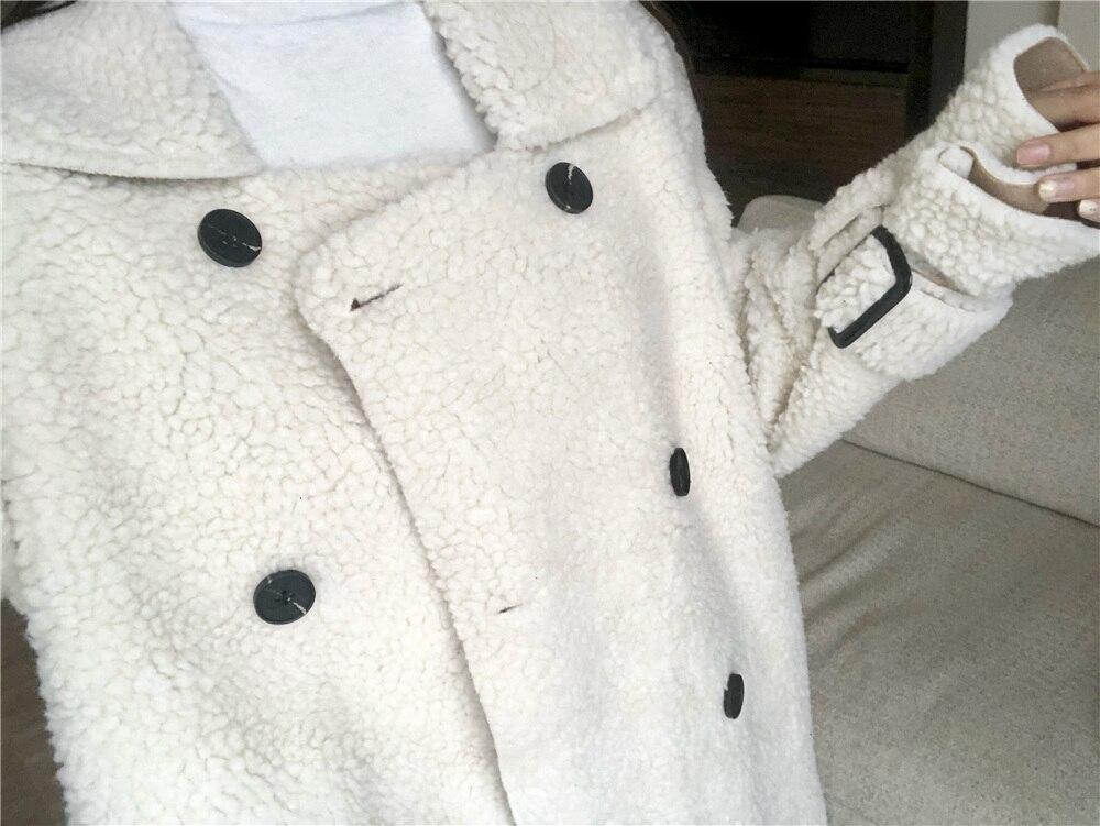 Viento Mujeres Lana Mucho Elegante Trench Estilo Beige Casaco Abrigo Suelto Feminino Chaqueta De Abrigos Piel Las Elegante Para qCnwnfF