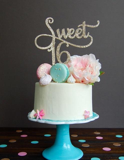 Glitter Gold Susse 16 Birthday Cake Topper Kuchen Dekoration Party