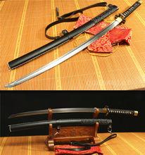 DAMASCUS Folded Steel Sheath Walking Dead Michonne BLACK Sword Katana Replica