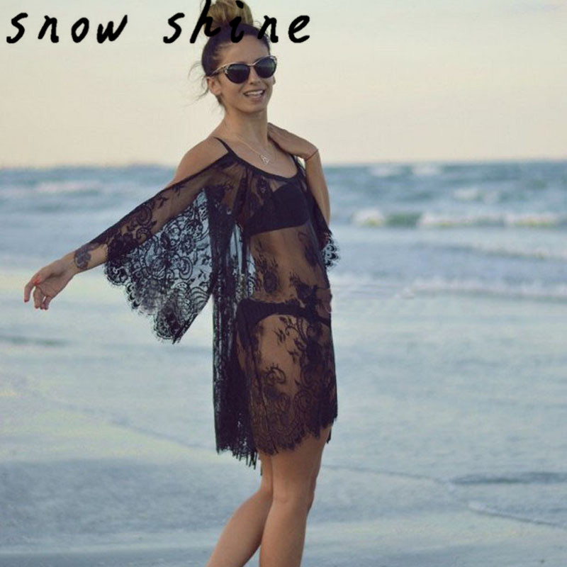 snowshine YLIW 1PC Vintage Hippie Boho People Embroidered Floral Lace Crochet Dress free shipping