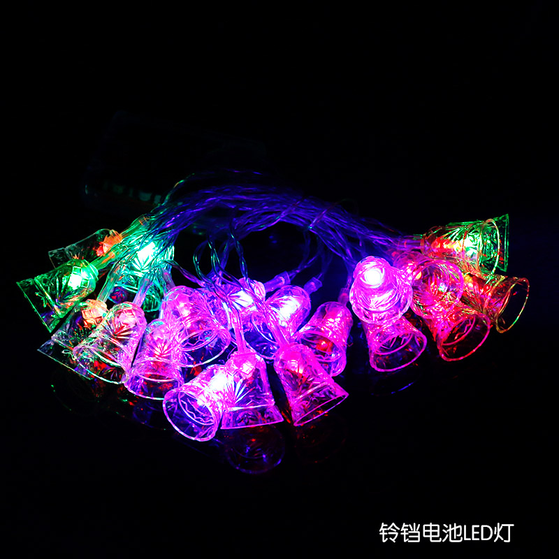 Ny 20 LED Liten Bell String Fairy Lights Christmas Xmas Party Bryllup - Ferie belysning - Bilde 5
